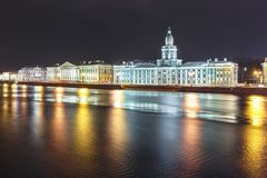 Paisaje de la ciudad con Neva River, Fotografía de archivo libre de regalías