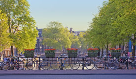 Paisaje de la ciudad de Amsterdam Imagenes de archivo