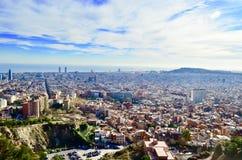 Paisaje de la ciudad de Barcelona Imágenes de archivo libres de regalías