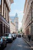 Paisaje de la ciudad de Lviv Fotografía de archivo libre de regalías