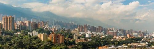 Paisaje de la ciudad de Medellin Fotos de archivo libres de regalías