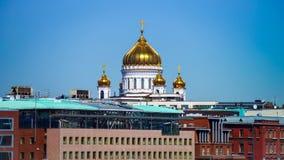 Paisaje de la ciudad de Moscú con las señales arquitectónicas Imagenes de archivo