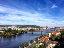 Paisaje de la ciudad de Praga, República Checa Fotografía de archivo libre de regalías