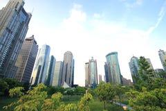 Paisaje de la ciudad de Shangai Lujiazui Foto de archivo libre de regalías