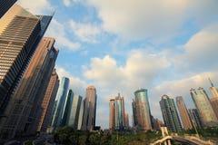 Paisaje de la ciudad de Shangai Lujiazui Imagen de archivo