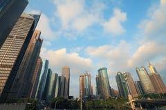 Paisaje de la ciudad de Shangai Lujiazui Imagenes de archivo