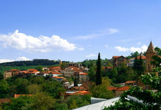 Paisaje de la ciudad de Sighnaghi georgiano Fotos de archivo