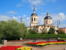 Paisaje de la ciudad de Tomsk Rusia imagenes de archivo