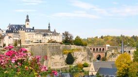 Paisaje de la ciudad de Luxemburgo, capital europea almacen de video