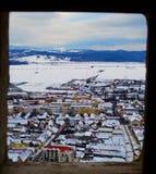 Paisaje de la ciudad de Rasnov fotografía de archivo libre de regalías