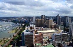 Paisaje de la ciudad y del puerto Fotografía de archivo