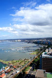 Paisaje de la ciudad y del puerto de Durban Fotografía de archivo