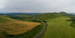 Paisaje de la colina, campo agrícola foto de archivo