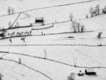 Paisaje de la colina del peisage del invierno foto de archivo libre de regalías