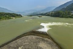 Paisaje de la conservación del agua fotografía de archivo