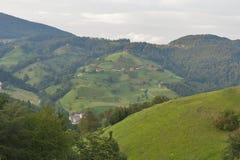Paisaje de la cordillera de Eslovenia Foto de archivo libre de regalías