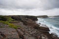 Paisaje de la costa Fotos de archivo libres de regalías