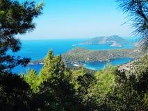 Paisaje de la costa costa del pavo del mar Mediterráneo Fotos de archivo