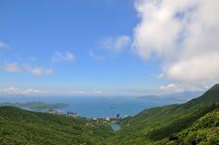 Paisaje de la costa de mar en Hong-Kong Foto de archivo libre de regalías