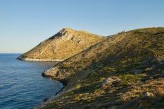 Paisaje de la costa de Peloponeso Fotografía de archivo libre de regalías