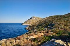Paisaje de la costa de Peloponeso Imagenes de archivo