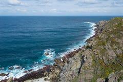 Paisaje de la costa gallega Fotos de archivo libres de regalías