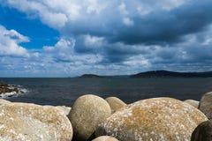 Paisaje de la costa gallega Fotografía de archivo libre de regalías