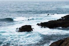 Paisaje de la costa gallega Fotos de archivo