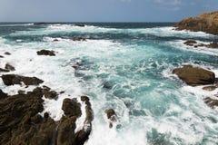 Paisaje de la costa gallega Foto de archivo