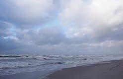 Paisaje de la costa de mar Báltico Foto de archivo libre de regalías