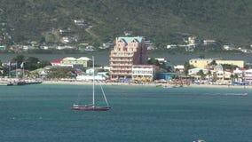 Paisaje de la costa de Philipsburg, San Martín metrajes