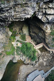 Paisaje de la cueva de la montaña imagen de archivo