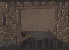 Paisaje de la cueva de la historieta Escena de la naturaleza Imagenes de archivo