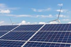 Paisaje de la energía limpia Fotografía de archivo libre de regalías