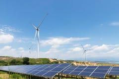 Paisaje de la energía renovable Fotos de archivo libres de regalías