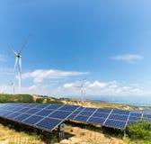 Paisaje de la energía renovable Imagen de archivo libre de regalías