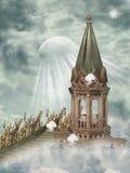 Paisaje de la fantasía stock de ilustración