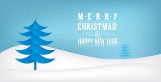 Paisaje de la Feliz Navidad Vector fotografía de archivo libre de regalías
