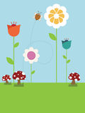 Paisaje de la flor stock de ilustración