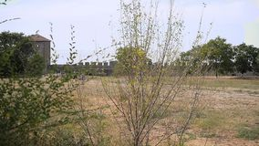 Paisaje de la fortaleza de Akkerman, Bilhorod-Dnistrovskyi, Ucrania almacen de video