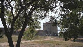 Paisaje de la fortaleza de Akkerman, Bilhorod-Dnistrovskyi, Ucrania almacen de metraje de vídeo