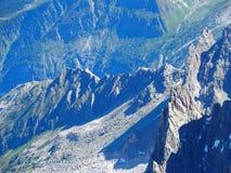 Paisaje de la gama de montañas rocosas en las montañas francesas Imágenes de archivo libres de regalías