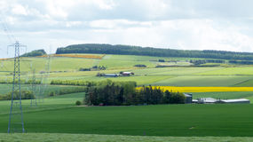 Paisaje de la granja del campo imágenes de archivo libres de regalías