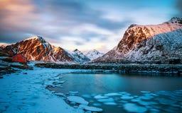 Paisaje de la helada del glaciar