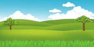 Paisaje de la hierba Imagen de archivo libre de regalías