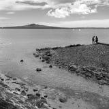 Paisaje de la isla Auckland Nueva Zelanda de Rangitoto Imagen de archivo