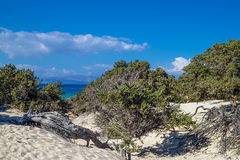 Paisaje de la isla de Chrisi imagen de archivo libre de regalías