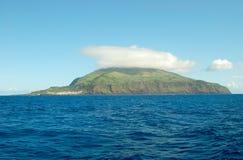 Paisaje de la isla de Corvo Azores, Portugal Imagen de archivo