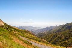 Paisaje de la isla de Gomera del La Foto de archivo libre de regalías