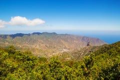 Paisaje de la isla de Gomera del La Fotos de archivo